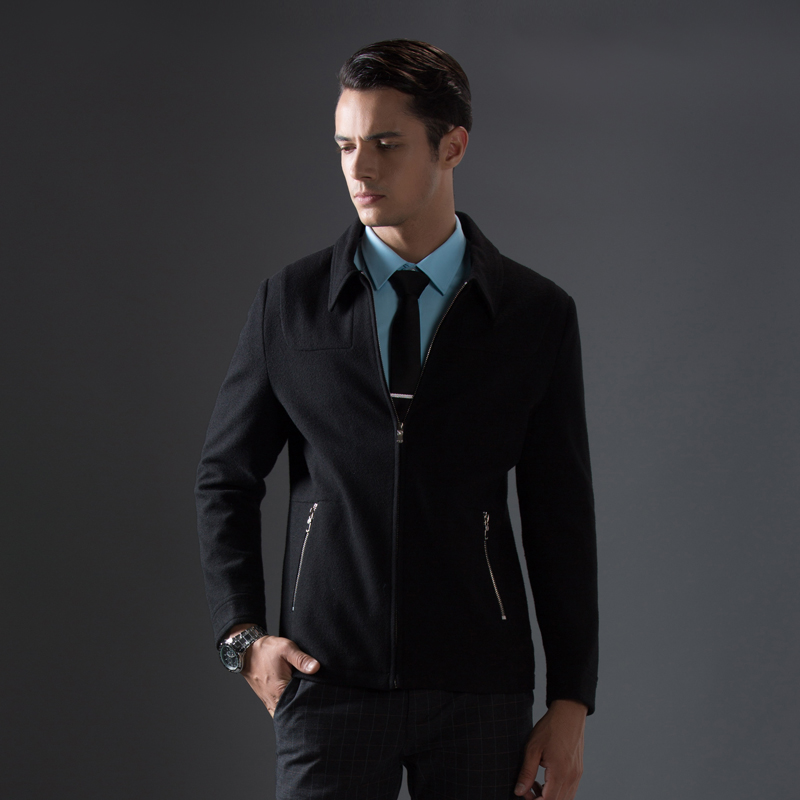 Abrigo de otoño e invierno de gran venta para hombre, chaqueta de negocios informal, chaqueta cómoda, abrigo de marca para hombre-in Chaquetas from Ropa de hombre    2