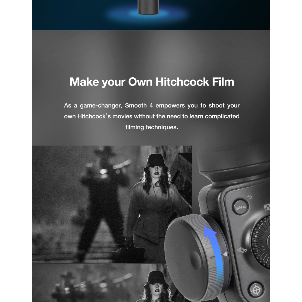 ZHIYUN Official Smooth 4 3-Axis Handheld Smartphone Gimbal Stabilizer VS Smooth Q Model for iPhone X 8Plus 8 7 6S Samsung S9S8S7 9