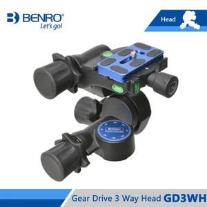 Image 3 - Benro GD3WH Head Gear Drive 3 Way Head Three Dimensional Heads For Camera Tripod Max Loading 6kg Free Shipping