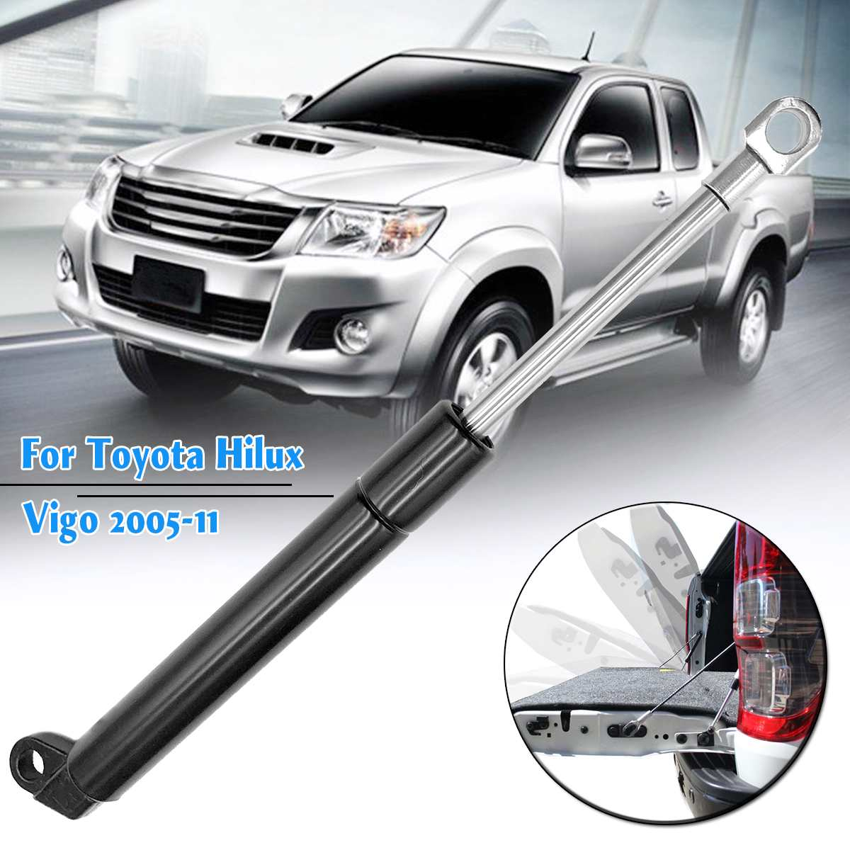 1Pcs Tailgate ช้าลงประตูท้ายหาง Strut Damper ฤดูใบไม้ผลิก๊าซสำหรับ Toyota Hilux Vigo 2005 2006 2007 2008 2009 2010 2011