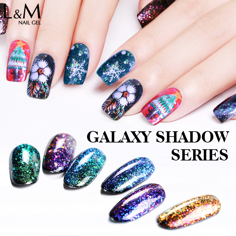 3 Pcs Lot IDO Gelpolish 15ml New Arrival Galaxy Shadow Series Romantic Bling Nail Glue Gel Polish for Nails Summer UV & LED