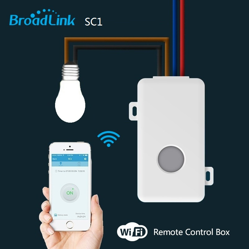 US $7 12 20% OFF|Broadlink SC1 Wifi Controller Smart Home Automation  Modules IOS Android Phone APP Wireless Wifi Remote Controlled Switch100  250V-in