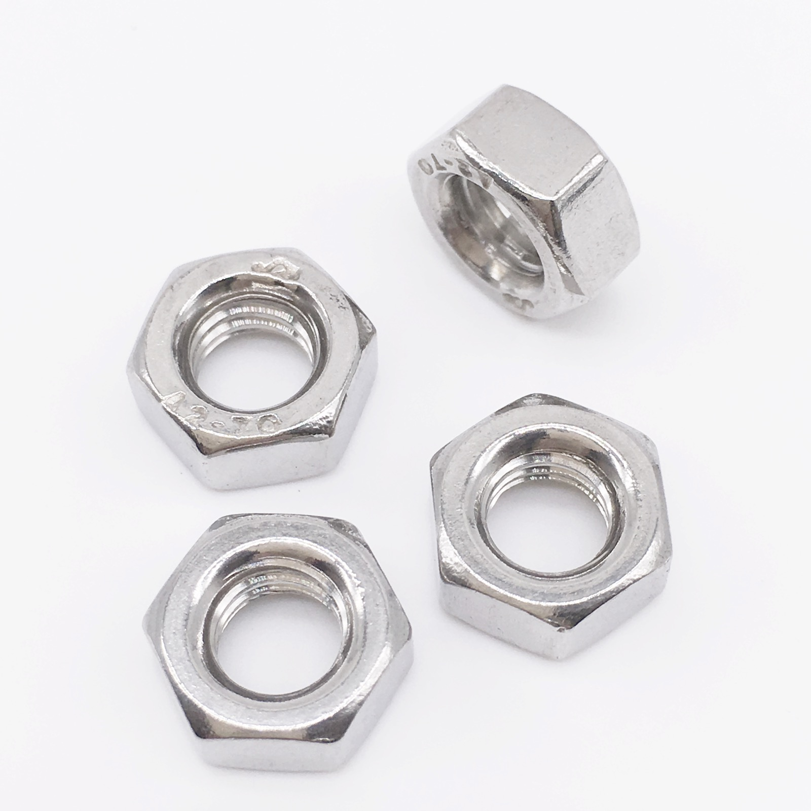 M1 M1.2 M1.6 M2 M2.5 M3 M4 M5 M6 M8 M10 M12 M14 M16 M18 M20 Hex Nut Micro Small Nuts Stainless Steel DIN934 brass hex nut brass nut m2 m2 5 m3 m4 m5 m6 m8 m10 m12 m14 m16 m18 m20 metric thread