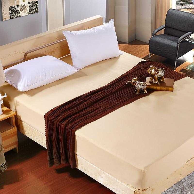 இ2016 color sólido sábana ajustable cama hoja elástica colchón cama ...
