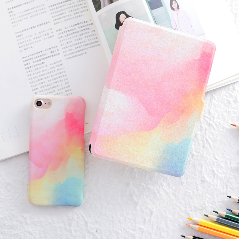 Color Painted PU Leather Case Flip Cover for Amazon Kindle Paperwhite 1 2 3 449 558 Voyag Case 6 Ebook Ereader Tablet case japan tokyo boy girl magnet pu flip cover for amazon kindle paperwhite 1 2 3 449 558 case 6 inch ebook tablet case leather case