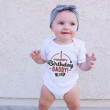 Cotton Romper Onesie Baby Clothes Happy-Birthday-Daddy Baby-Boys-Girls I-Love-You Outfits