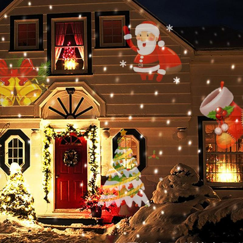christmas led projector lights decoration motion rotating spotlight landscapes outdoor 12pcs switchable pattern lens - Christmas Motion Lights