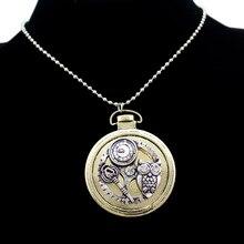 Owl Watch Clock Hand Gear Skeleton Key Alice In Wonderland Steampunk Pendant Chain Necklace Jewelry