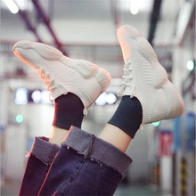 Купить с кэшбэком Socks shoes women's spring new wild sports shoes women's plug-in super fire shoes old shoes women