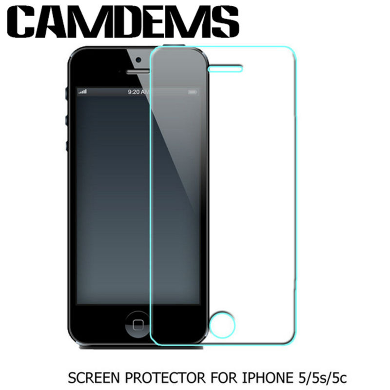 CAMDEMS 100pcs HD Clear 2 5D Tempered Glass screen protector for iPhone xs max xr 8