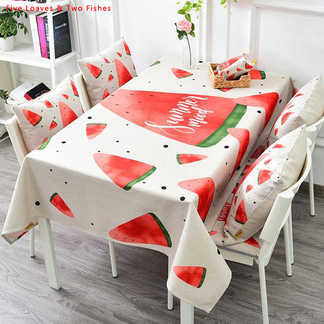 Delicieux Free Shipping Colorful Fruit Tablecloths New Thicker Cotton Linen Tablecloth  Rectangular Table Cloth Unique Table Cover