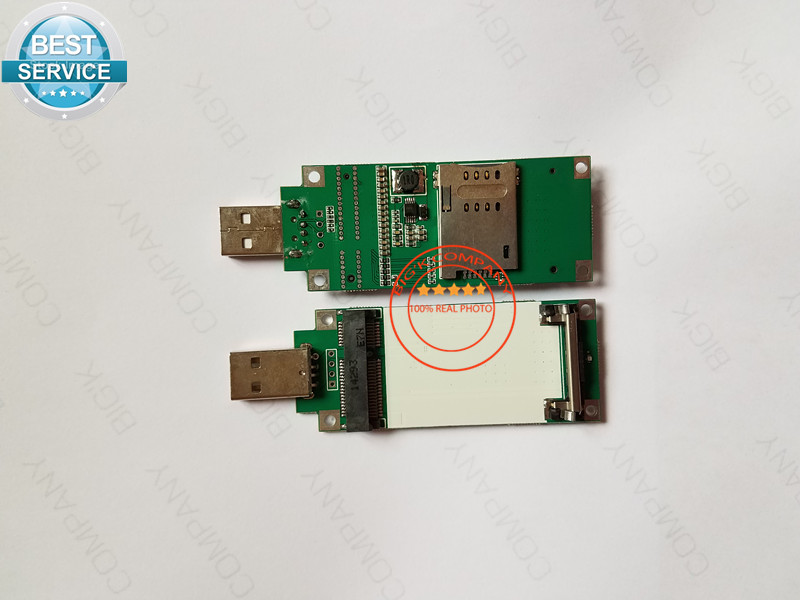Mini PCIE To USB Include SIM Card Slot For SIM5360E/SIM7100E/ MU709S-2/ME909S-120/ME909U-521/SIM7100CE/EC21-E/EC25-E/EC20-E