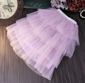 2016 spring new Korean girls yarn stitching yarn Pompon princess skirts