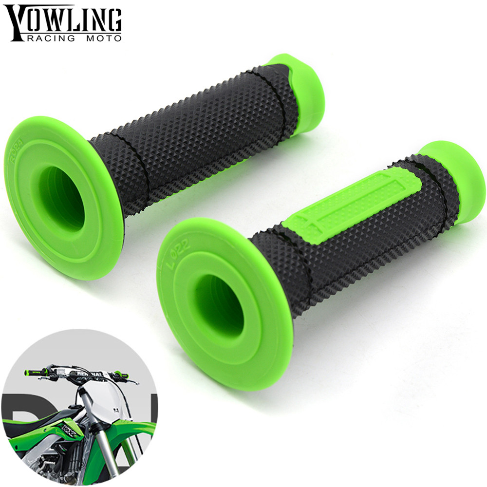 Motorcycle Dirt Bike Rubber Brake Hand grips For Kawasaki KX KLX KFX KDX 65 80 85 125 250 250 450 450 150 F/R/S with logo