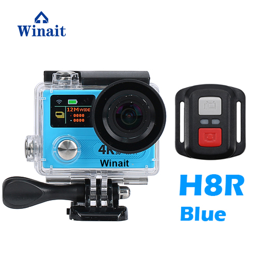 Winait Real Time 4k Action Camera H8R 2.0 LCD Display Mini Cam WIFI Remote Control Built-In 1050mah Lithium Battery