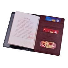 PU Leather Slim rosyjska okładka na paszport torba walizka podróżna z etui na karty kredytowe Protector dokumenty portfel dla rosji tanie tanio Winligture CN (pochodzenie) 10cm 14cm Akcesoria podróżnicze BGM471 Stałe
