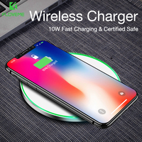 Faster Wireless Charger FLOVEME Wireless Charging For Samsung S9 S8 Plus S7 S6 Edge Note 8