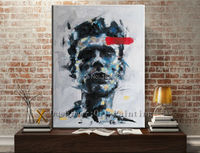 Hand Painted Canvas Oil Paintings Man Face Painting Famous Painter Face Paint Oil Oainting Art Painting