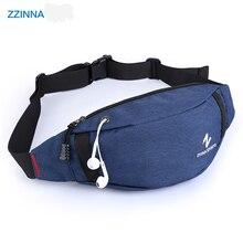 ZZINNA Multifunction Waist Bag Female Waterproof Chest Handbag Unisex Fanny Pack Male Sports Belly Bags Casual Phone Purse