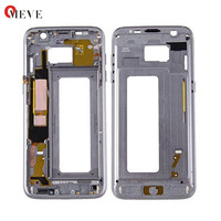 20pcs DHL Free Original New Front Glass Lens Bezel Middle Frame Replacement For Samsung Galaxy S7