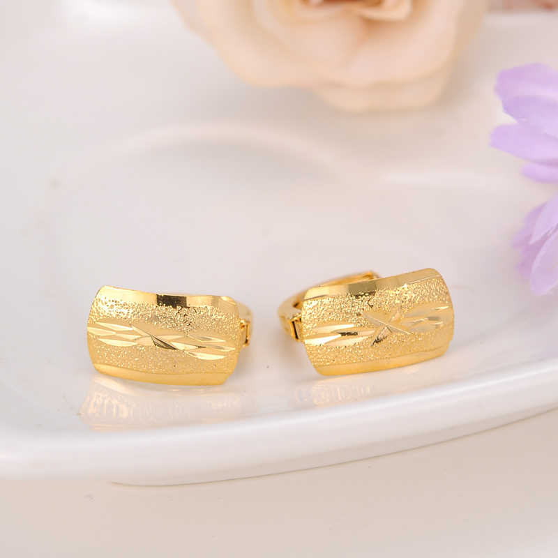 949071dee Detail Feedback Questions about 2pairs Scrub Women's Round hoop Earrings  24K Gold Color Middle Earring For Mens Girls Boys Fashion Kids Children  Jewelry on ...