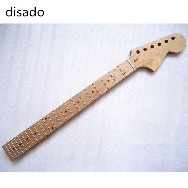 disado 22 Frets inlay dots maple fingerboard maple Electric Guitar Neck Guitar accessories parts Wholesale can be customized цена