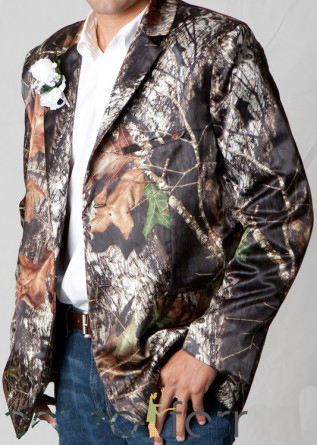 Mossy Oak Camo Blazers Sports Coat  Man Camouflage Prom Coats For Men Free Shipping