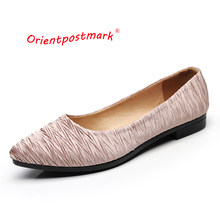 Orientpostmark Women Ballet Flats Shoes Boat for Work Womens Pregnant Cloth Sweet Loafers Slip On