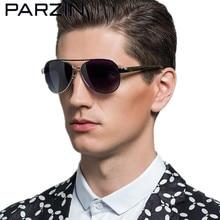 Фотография Parzin Polarized Sunglasses Men Colorful Vintage Pilot  Sun Glasses Male Retro Driving Glasses Shades With Case Black 8012