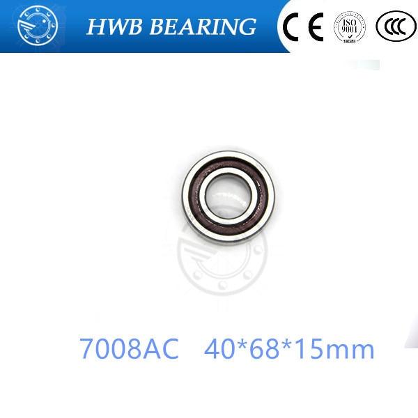 40mm Spindle Angular Contact Ball Bearings 7008ac SUPER PRECISION BEARING ABEC-5  7008AC 40x68x15mm original 7003 ac p5 angular contact ball bearings 17 35 10