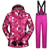 Winter Outdoor Sport Snowboard jacket Ski Suit Women Waterproof 10000mm Female Skiing Jacket Pants Women's Snow Trousers