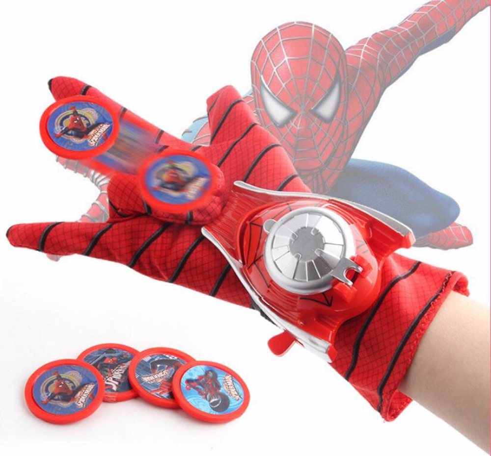 Spider man Launcher Toy For Kids Boys Captain America Batman Hulk Glove Launcher new year Gift Spiderman Cosplay Toys