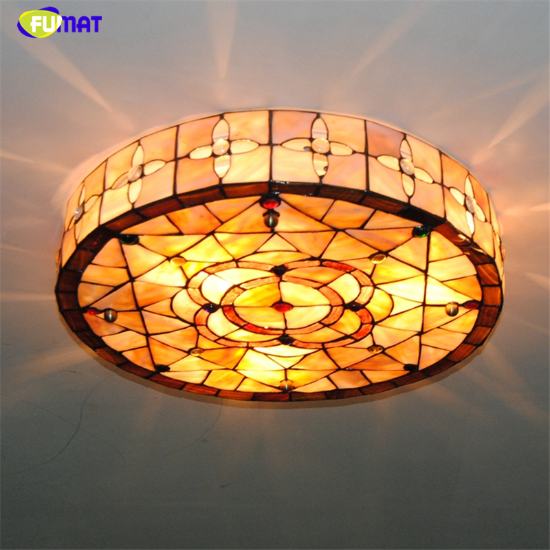 Ceiling Lamp Shades For Living Room: FUMAT Tiffany Ceiling Lamps LED Natural Shell Shade Lamps