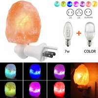 Fashion Crystal Salt Lamp With Grounding Plug Rock Lamps Hand Carved Wall Hang Night Lights For