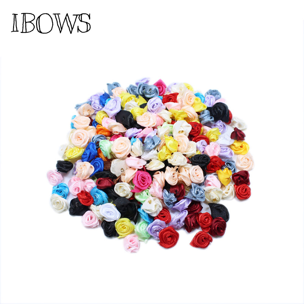 Small Thin Glitter Flowers Mixed Colour 10mm Embellishments Appliques 100pcs