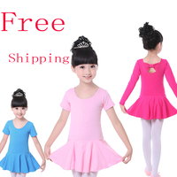 Free Shipping Cotton Kid Gymnastic Leotards Butterfly Tie Child Ballet Girls Tutu Dress Flexible Tutu Dress