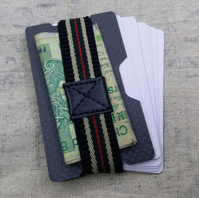 one plate Carbon fiber  card holder wallet slim thin wallet