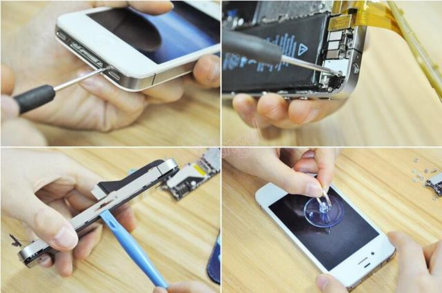 Universal 8 pcs/set cell phone repair tool set Opening Pry mobile phone repair tools Kit For iPhone 6 plus 6 5S 5 4S #HA10464