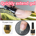 CoKEKOU 14ml Quick extend soak off UV&led builder nail gel fake tips dual ended pen acrylic nail art Reinforced crystal poly gel