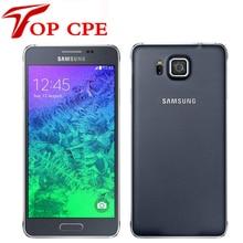 Восстановленное в исходном разблокирована samsung galaxy alpha g850a g850 g850f ouad основные 16 ГБ rom 12.0mp 4.7 дюймов сенсорный экран мобильного телефона