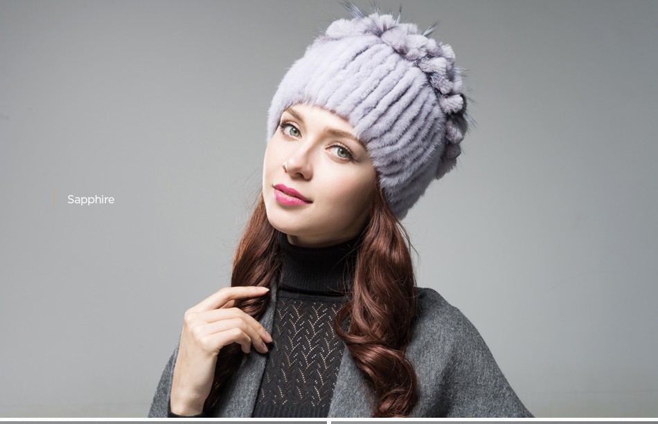 mink fur hats female winter PCM016 (17)