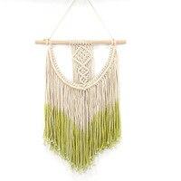 YOOSA Hand made Bohemia macrame cotton thread line tapestry cotton Scandinavian tapestries for home decoration handicraft works