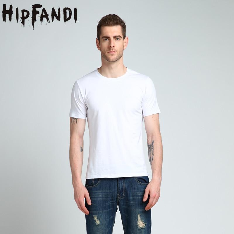 HIPFANDI New color 95% Cotton T Shirt Mens Black White T-shirts 2018 Summer Skateboard Tee Boy Hip hop Skate Tshirt Tops