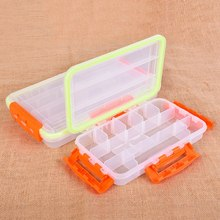 Fishing Tackle Box Rectangular Clear Waterproof Portable Organization Case Storage Box fishing tool storage box t k excellent practical tool box screws storage black simple portable tool storage box self tapping screws device plastic 1pcs