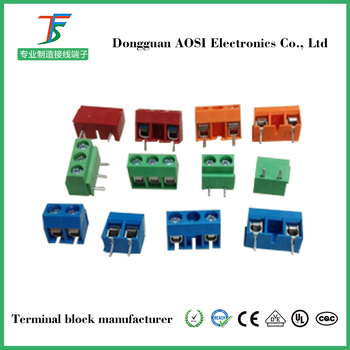 KF301 KF126 dg126 800 unids/bolsa 2Pin recta de 5,0mm Pin PCB bloque de terminales de tornillo FEA2.5-02-500-06