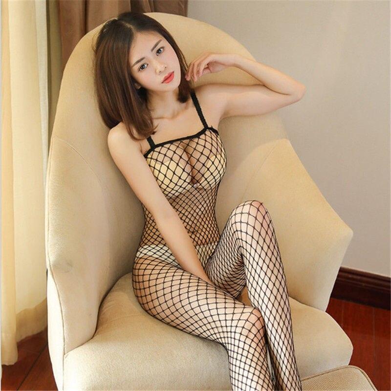 Femmes Sexy bas grande taille Sexy Lingerie sans entrejambe résille collants dames intime ouvert entrejambe Sexy collants bas du corps