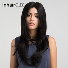Inhair Cube 22 Inches Full Wigs Ladies Party Daily Natural Wave Black Natural Dr