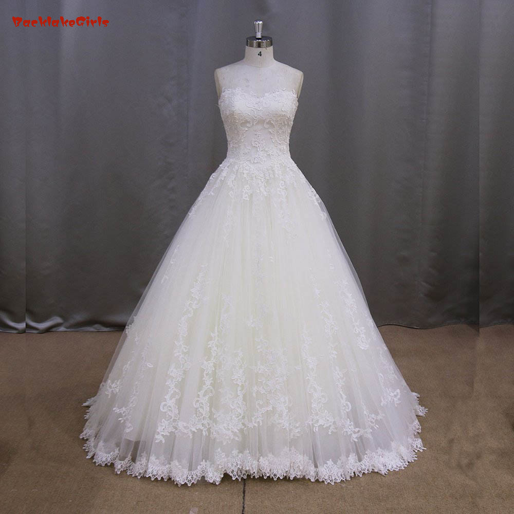 2016 High Quality Elegant A Line Sweetheart Lace Appliques Off the Shoulder Sleeve font b Bridal