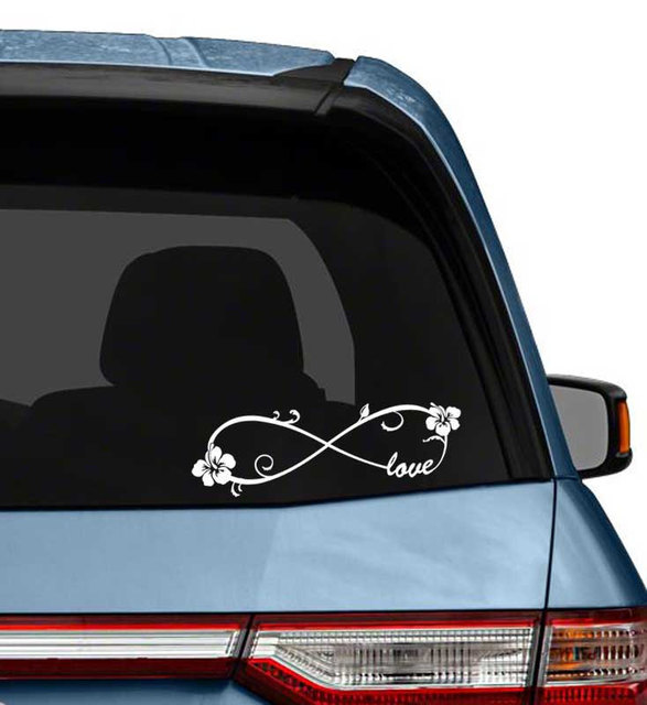 Love Word Forever Infinity Symbol Vinyl Decal For Laptops Or Car