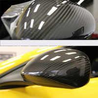 35x150cm PVC 5D fibra de carbono lámina de vinilo coche envoltura rollo pegatina calcomanía negro DIY impermeable todo el tiempo cinta adhesiva nuevo